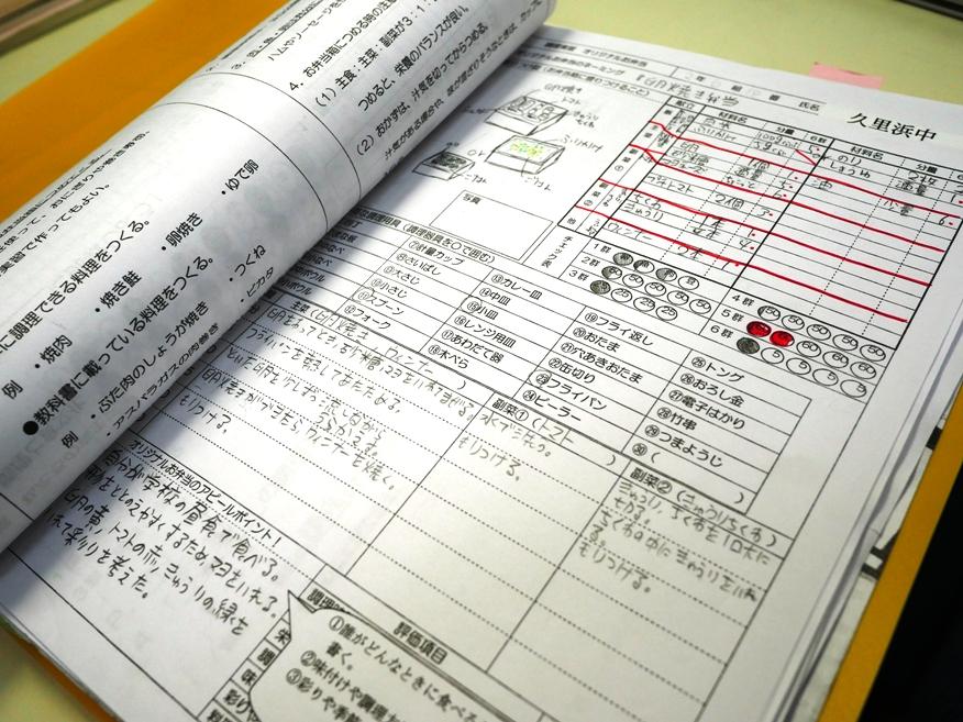 中学校はノートだけではなく、「ファイル提出」もあります。家庭科や美術の内申も高校入試の大せつな要素です。