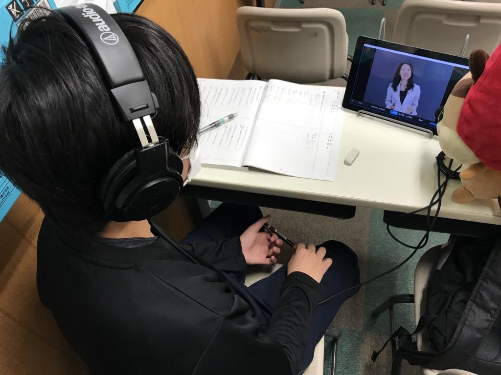 タブレットを使った映像授業@willを導入しております。