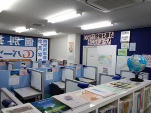 【授業スペース】 落ち着いた清潔感のある個別指導ブースで集中して学習できます。