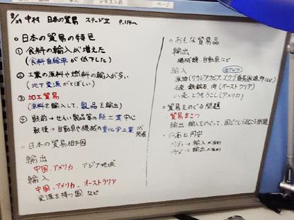 【指導スタイル】 ホワイトボードを用いて板書を行い、丁寧に・わかりやすく指導します。