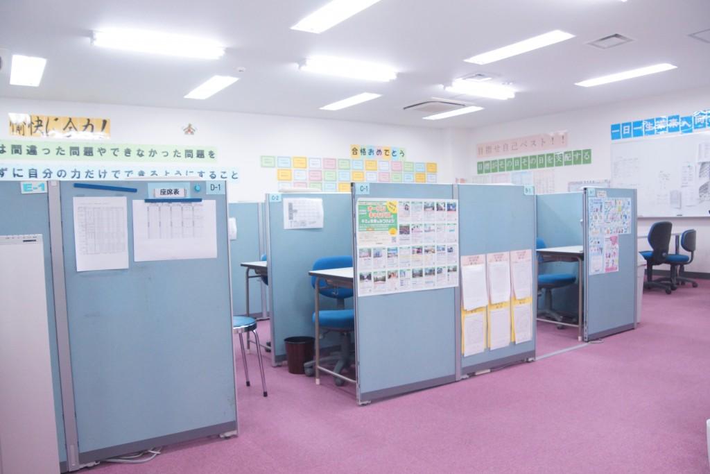 ひろびろした教室です。