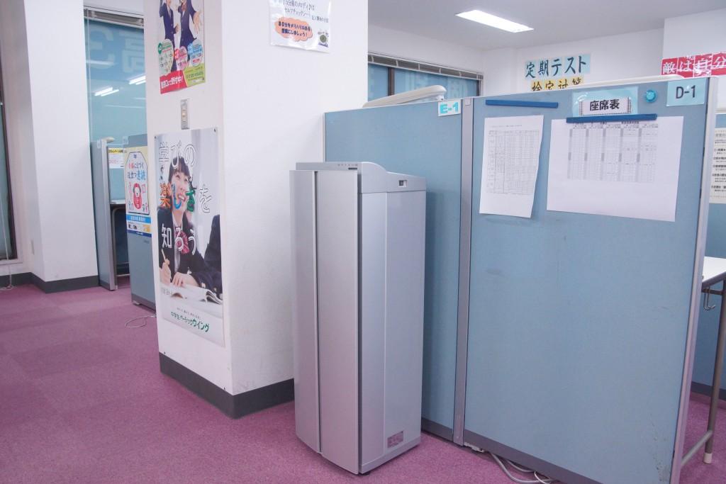 空気清浄器もあるので冬のインフルエンザなどの時期も対策しています