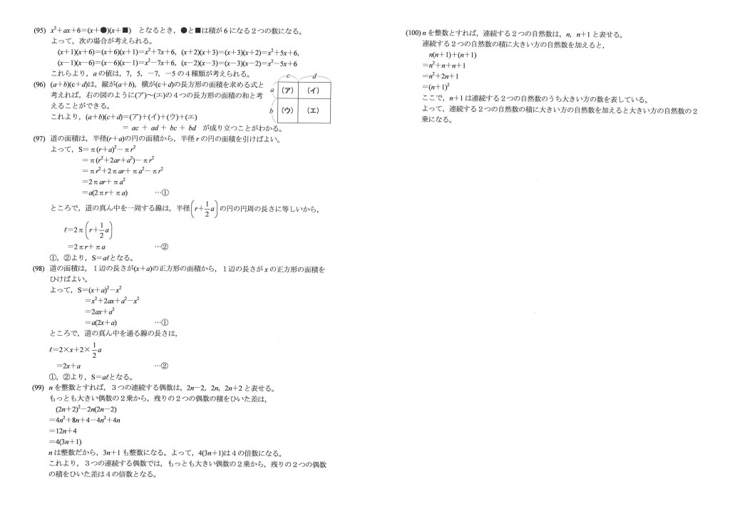 中萬 鴨居 数学