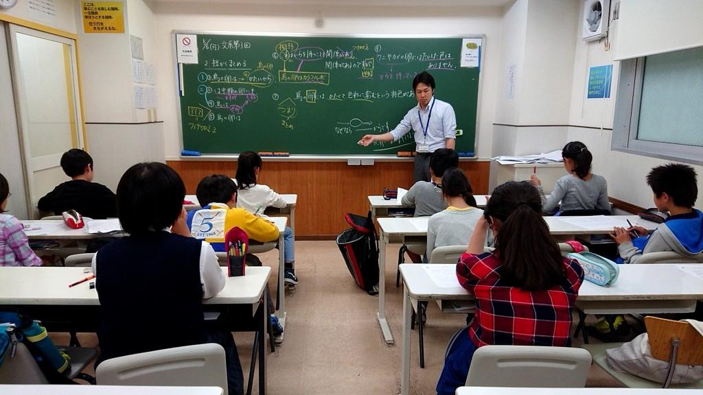 【中高一貫授業の様子 】 6年生、中高一貫文系の授業の様子です。 みんな集中して勉強しています。