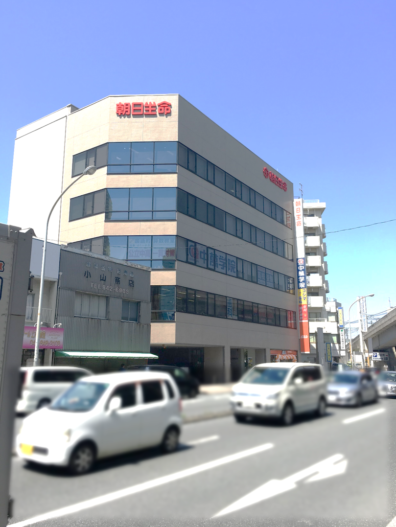 * 外観 * CG中萬学院上大岡スクールは朝日生命ビルの3階にあります!