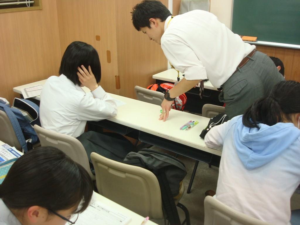 ★中学生の授業の一面。1クラス少人数制なので、先生が一人ひとりを丁寧に見ることができます。★