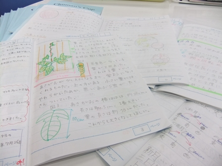 ノート指導もしっかり行います。 写真は小学生がまとめたChuman'sCupのノートです。 ノート指導については小学生のうちからしっかり行います。 授業中のノートの取り方、宿題のチェック・・・ 日々の積み重ねが中学生になってからの高内申獲得にもつながっていきます。