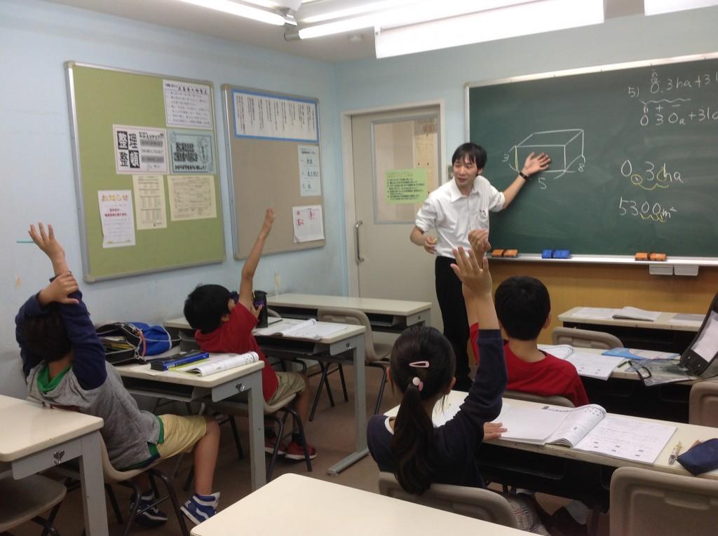 木曜日の算数質問教室の様子(4年生)